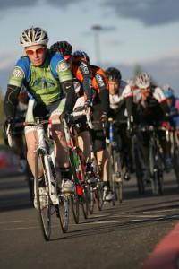 Bike racers in C.O. Crit Series