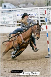 Pole Bending: Tri-County High School rodeo